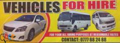 Vehicles For Hire