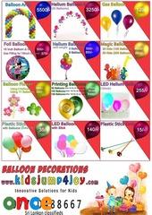 BALLOON DECOR / PARTY DECOR / GAS BALLOONS / BALLOON ARCH / POM POMS