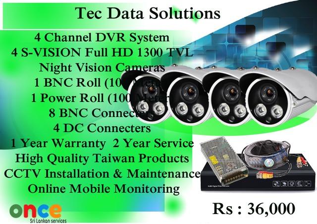 CCTV 4 Channel 1300 TVL Camera