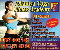 Yoga , Karate, Aerobics< karvmaga