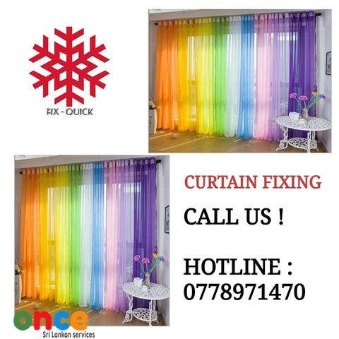 Curtain Fixing Sri Lanka Custom Curtain Decors