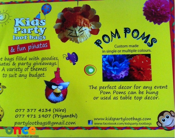 Pinatas and Pom Poma