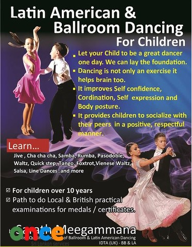 Ballroom & Latin American Dancing for Children in Nugegoda
