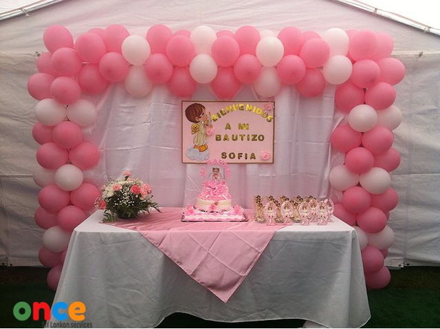 BALLOON DECOR PARTY GAS BALLOONS ARCH POM POMS
